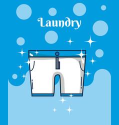 Short pants laundry concept vector