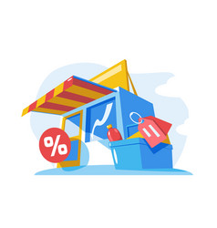 small store building vector image