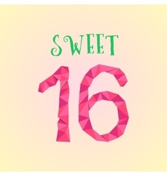 Sweet sixteen with polygonal number vector