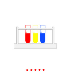 test tube it is icon vector image
