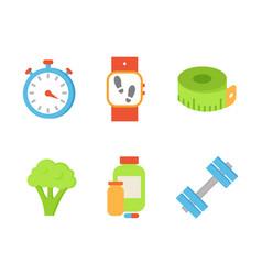 Time timer and broccoli set vector