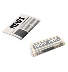 Two newspaper icons vector image