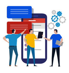 web mobile application design user experience test vector image