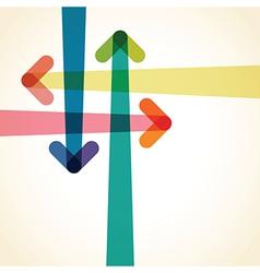 arrow background vector image