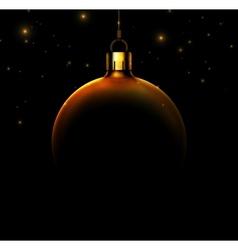 Christmas ball on black background vector image