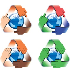 Global safe recycling vector image