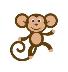 Happy cartoon monkey vector image vector image