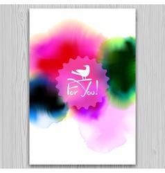 Ink blots invitation vector image vector image