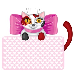 kitty card vector image vector image
