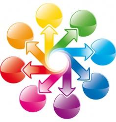 rainbow cycle arrows vector image vector image
