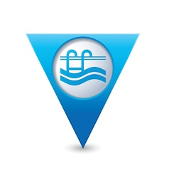 swimmingpool icon map pointer blue vector image vector image