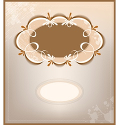 victorian background and frame vector image vector image