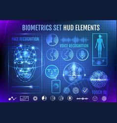 biometrics set hud elements vector image vector image
