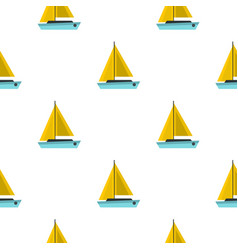 blue boat pattern seamless vector image