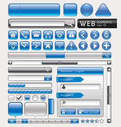Blue button for website and app vector image