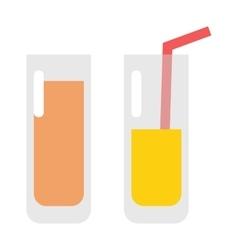 Glass of orange juice fresh drink beverage healthy vector image vector image