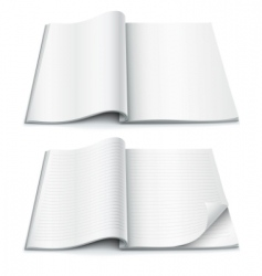 magazine pages vector image vector image