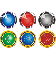 set of web buttons with the index arrows vector image