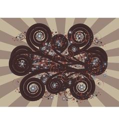Dark brown ornament vector image