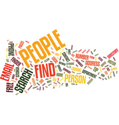 Find people text background word cloud concept vector