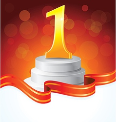 golden prize for first place - vector image
