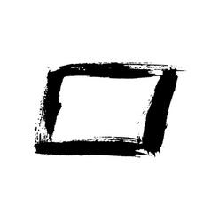 Grunge background rectangle black vector