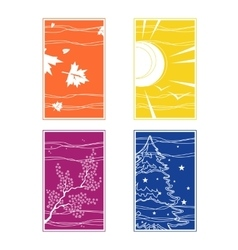 the seasons in different colors vector image