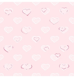 Abstract seamless hearts romantic background vector image