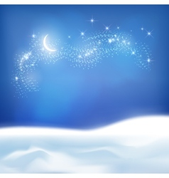 Abstract Winter Night Background vector image vector image