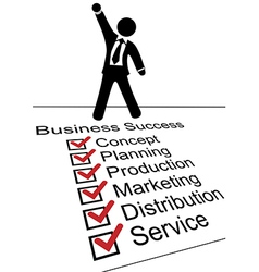 Business person on Success check list vector image vector image