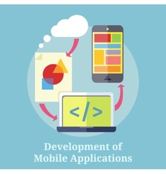 Development of Mobile Applications vector image