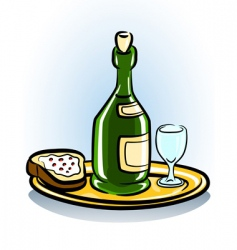 food and wine icon vector image