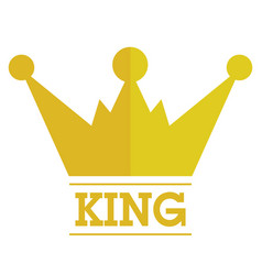 king crown logo vector image vector image
