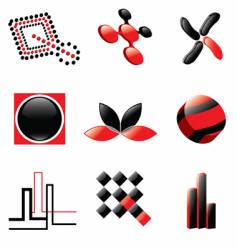 logos and design elements vector image