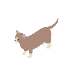 Munchkin cat icon isometric 3d style vector image vector image