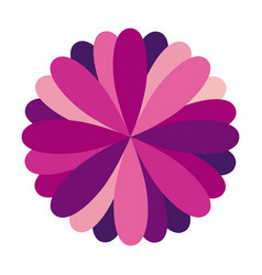 purple circular frame formed by petals vector image