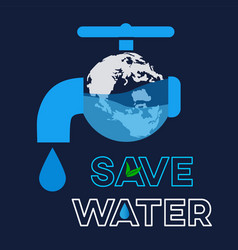 save water graphic design or background greeting vector image
