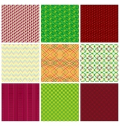 Seamless fabric textures vector image