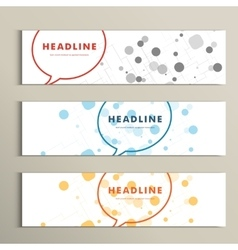 speech bubble on white background with circles vector image vector image