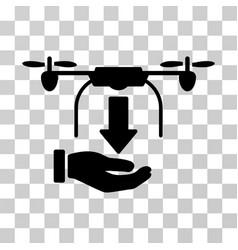 unload drone hand icon vector image vector image