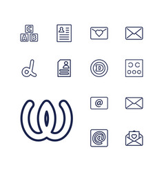 13 letter icons vector