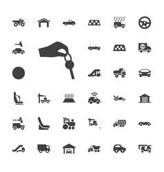 33 automobile icons vector