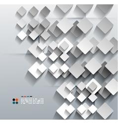 3d paper rhomb modern design vector