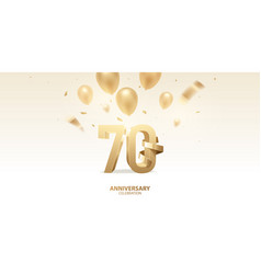 70th anniversary celebration background vector image