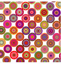 abstract geometric floral rounds background vector image