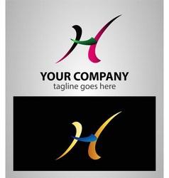 Abstract icon H logo vector