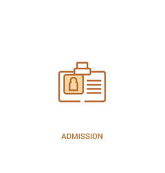 Admission concept 2 colored icon simple line vector