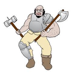 agressive man vector image