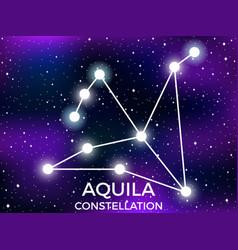Aquila constellation starry night sky cluster vector