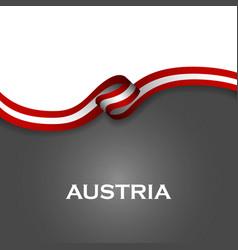 Austria sport style flag ribbon classic style vector